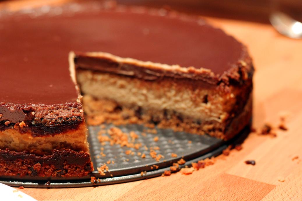 cheesecake beurre de cacahu tes et chocolat au lait. Black Bedroom Furniture Sets. Home Design Ideas